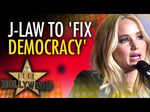 "Jennifer Lawrence vows to ""fix our democracy"" | Ben Davies"