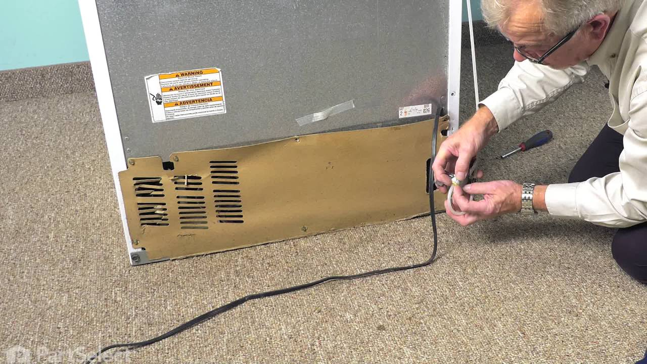 small resolution of refrigerator repair replacing the inlet water valve whirlpool part wp2315576