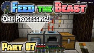 Minecraft FTB Hermitcraft Part 07: Basic Ore Processing!