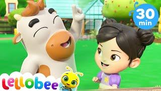 5 Little Ducks - Playtime at the Farm! | @Lellobee City Farm - Cartoons & Kids Songs | Education
