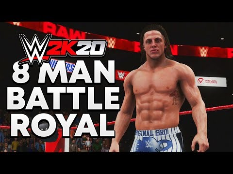 WWE 2K20 | 8 MAN BATTLE ROYAL - Matt Riddle Vs Velveteen Dream Vs Trent Seven Vs Buddy Murphy & More
