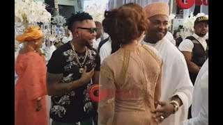 Checkout Oristefemi And His Wife's Outfits As They Storm The Elegushi's Wedding Venue