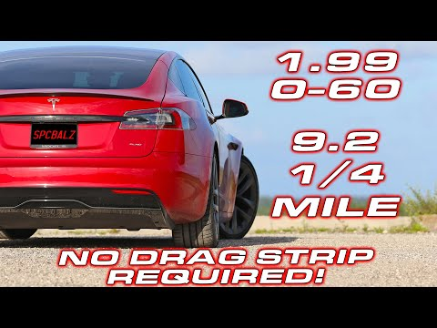 0-60 in 1.99 on the STREET * Tesla Plaid Delivery, Protection & Street Surface Performance Testing