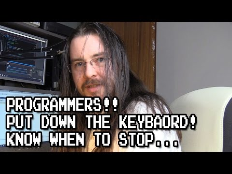 Programmers! Learn when to stop! Don't over-engineer your code.