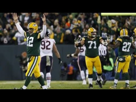 Let's remember when Aaron Rodgers threw 6 TD in a half against the Bears in 2014