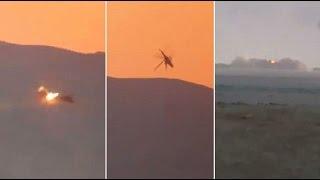 Видео крушения российского вертолёта Ми-25 в Сирии сбитого из американского оружия(Видео крушения российского вертолёта Ми-25 в Сирии сбитого из американского оружия. Подписывайтесь на канал..., 2016-07-10T11:36:39.000Z)
