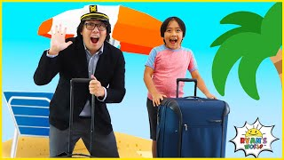 Ryan Takes a Trip Around the World with Daddy!!