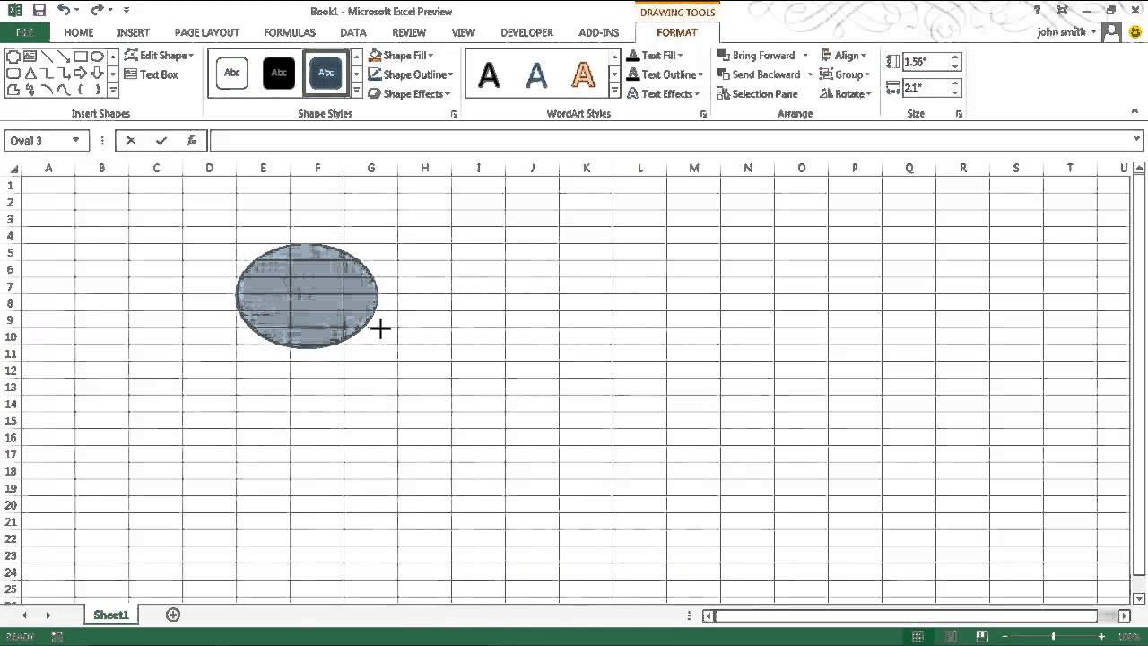 72e8193cad4e How to create and manipulate shapes in Excel - YouTube