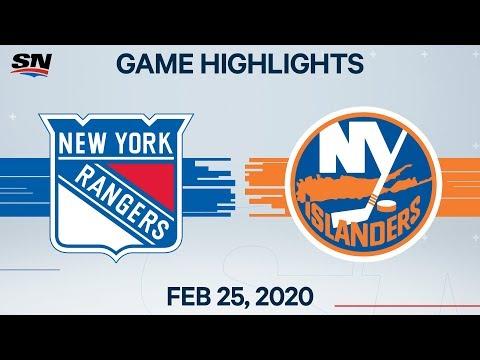 NHL Highlights | Rangers Vs. Islanders – Feb. 25, 2020
