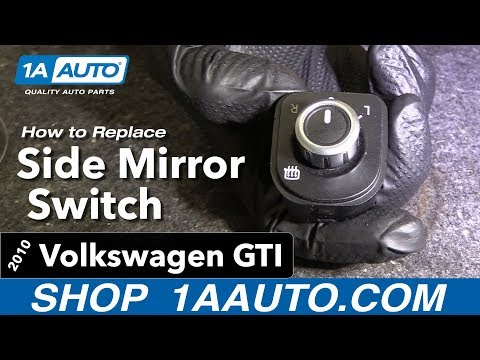 How to Replace Side Mirror Switch 10-14 Volkswagen Golf/GTI