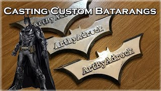 Aluminum Casting Batmans BATARANG From Scrap Metal: Custom Weapon Making