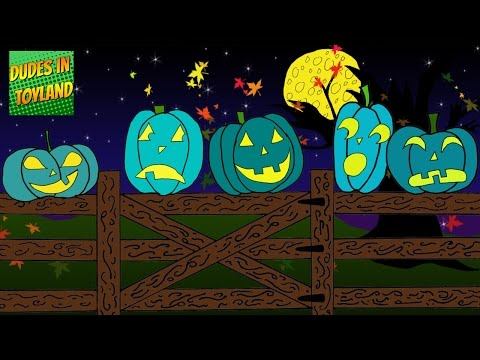 5 Little Pumpkins Sitting on a Gate song  Teal Pumpkin Project version for Food Allergy Awareness