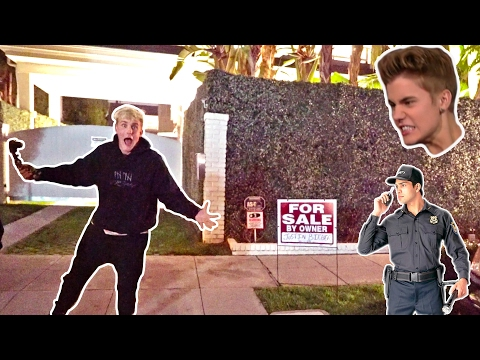 I PUT JUSTIN BIEBERS HOUSE UP FOR SALE (SECURITY CHASED US)