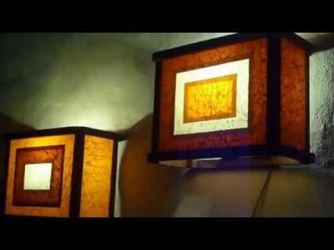L mparas artesanales apliques de pared youtube - Apliques de pared philips ...