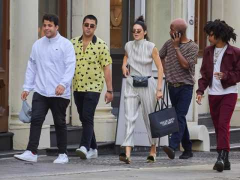 Kendall Jenner with friends out and about in Manhattan.