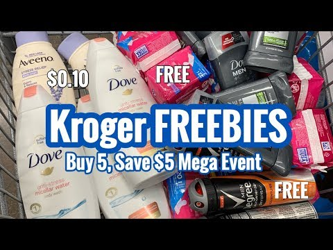 Kroger | Mega Event – Buy 5, Save $5 | FREE Items 🙌🏽 – No Coupons Needed! Move Quick!