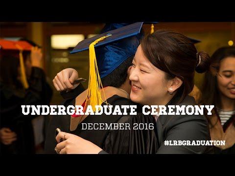 Undergraduate Graduation Ceremony December 2016 - Les Roches Global Hospitality Education