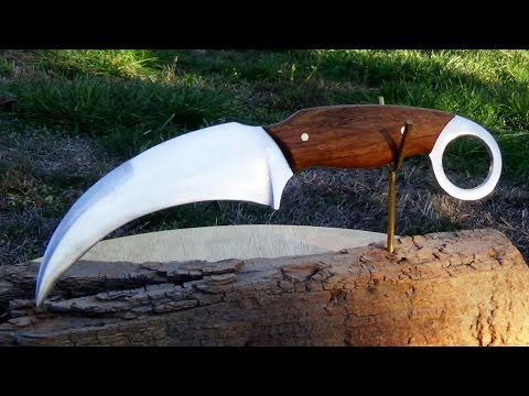 How To Make a Karambit Knife Out of a Lawnmower Blade
