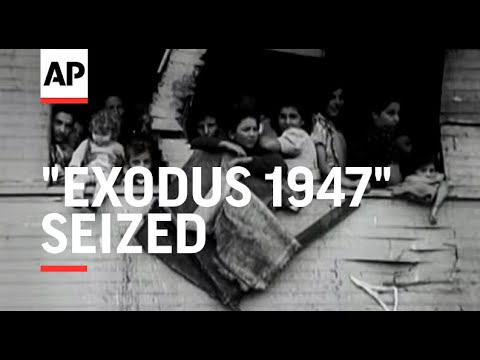 EXODUS 1947 ILLEGAL SHIP BOARDED