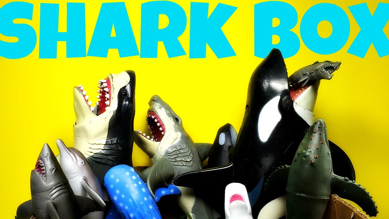 Toy Zone Toys Box Full Of Shark And Whale Toys Tiburones De Juguete