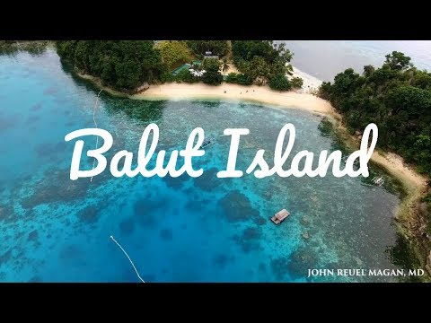 Balut Island  Davao Occidental Philippines drone shots