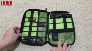 Overview: Estarer Travel Cable Organizer Accessories for Charger / USB Cables / Hard Drive