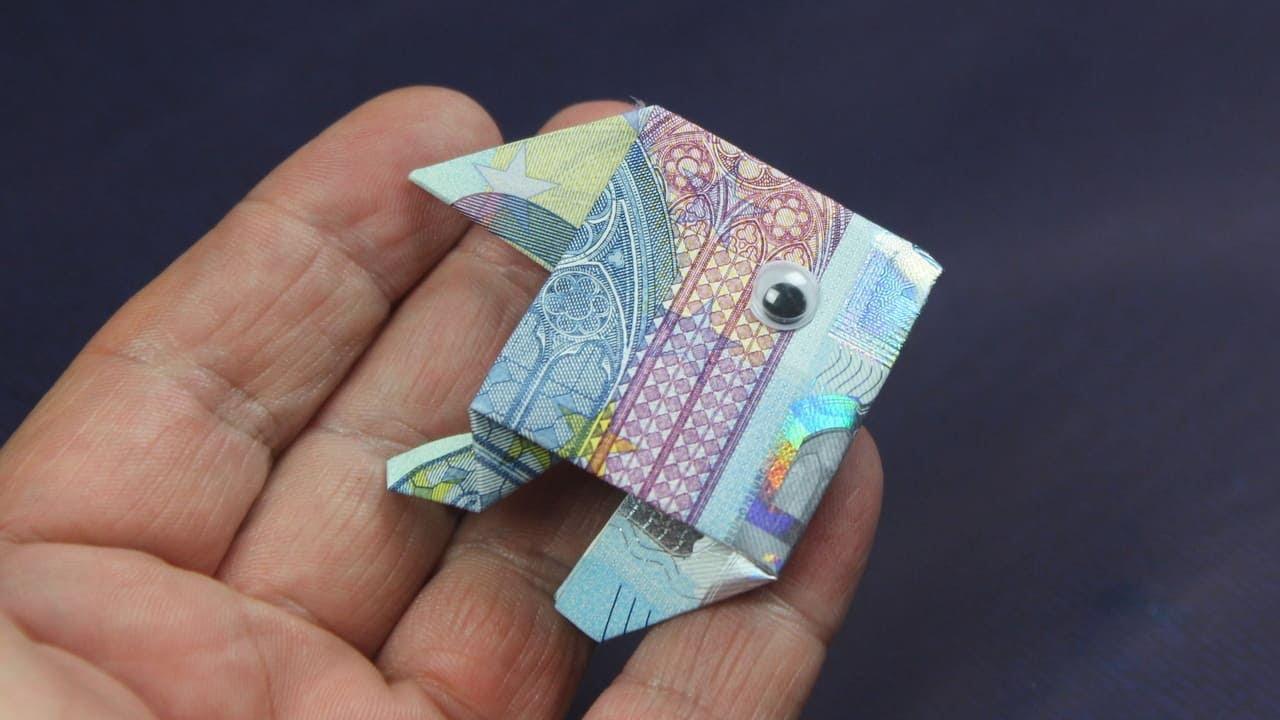 Geld falten Fisch aus Geldschein falten Deko Ideen mit Flora Shop YouTube