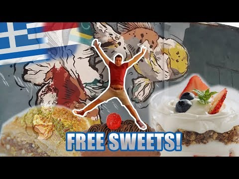 WE GOT FREE GREEK SWEETS - Vlog 214