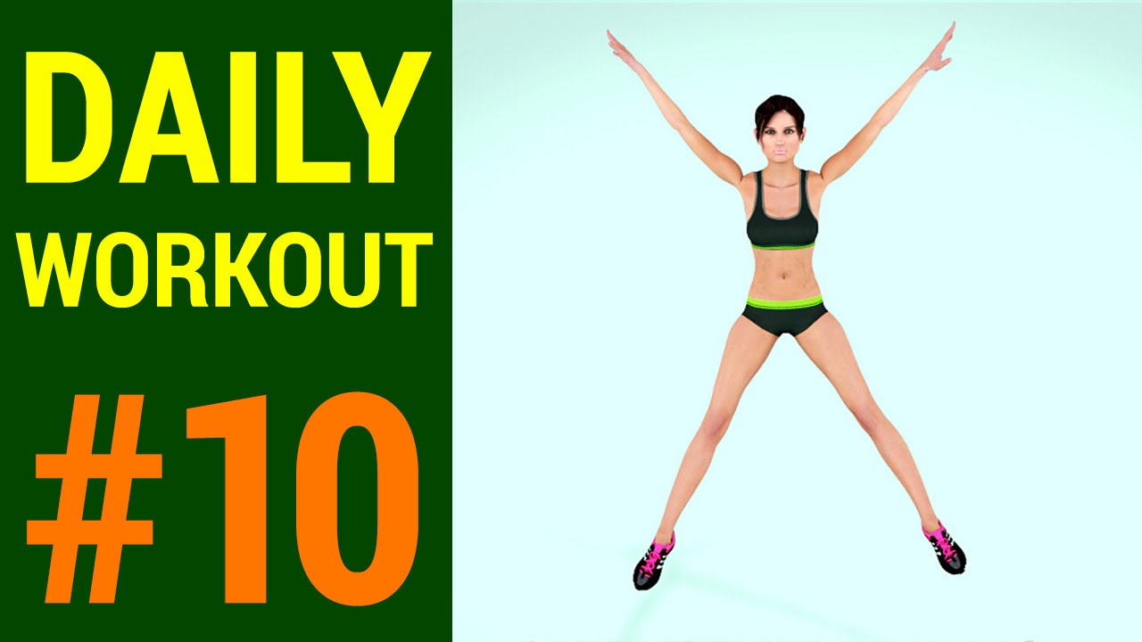 daily workout routine 10 burn calories and tone your body youtube