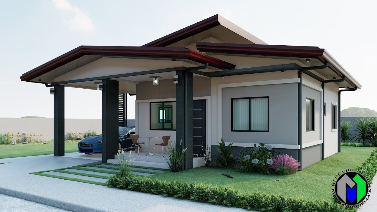 Small House Design | Modern House Design | Bungalow House | 2 Bedroom