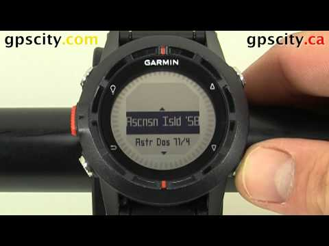 Setting the Positition Format of the Garmin fenix Hiking Watch with GPS City
