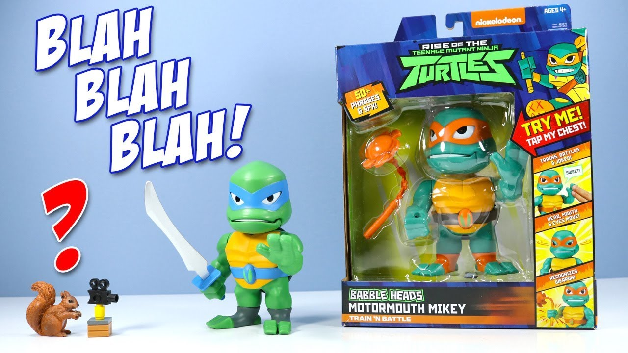 Rise Of The Teenage Mutant Ninja Turtles Babble Heads Leo Mikey Toys Review Youtube