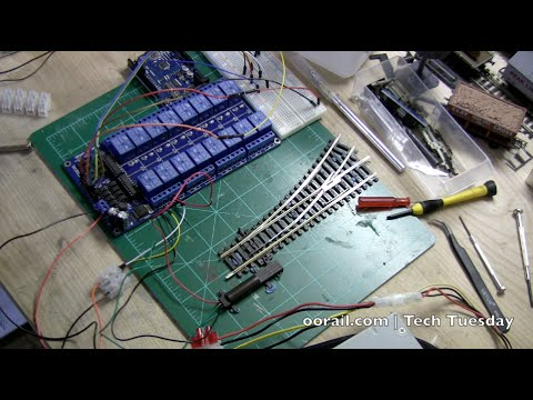 oorail com   Tech Tuesday - Arduino Controlled Point Motors