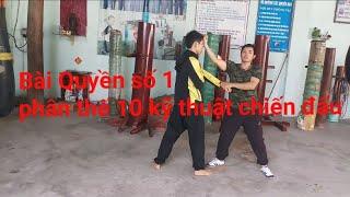 """Bài quyền số 1 """"Toankungfu""""(10 kỹ thuật chiến đấu,phân thế thực chiến)"""