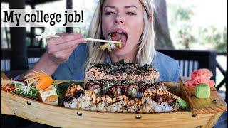 Sushi Boat Mukbang! | Sushi Feast at Masa in Tallahassee, FL