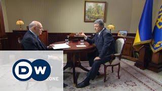 Conflict Zone: Петро Порошенко в інтерв'ю DW(Український президент відповідає на незручні запитання журналіста DW Тіма Себастіана. Повна версія програм..., 2015-11-12T15:04:31.000Z)