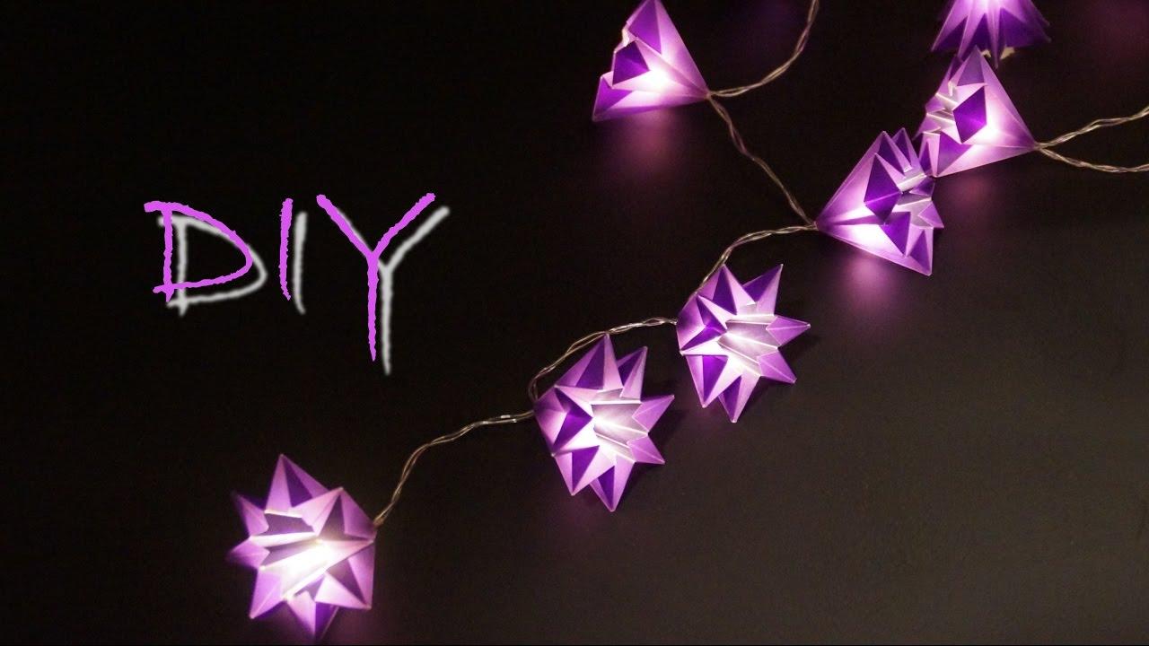 basteln mit papier zu weihnachten sch ne sterne lichterkette selber basteln diy youtube. Black Bedroom Furniture Sets. Home Design Ideas