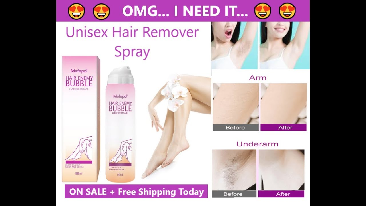 Unisex Painless Hair Removal Spray Youtube