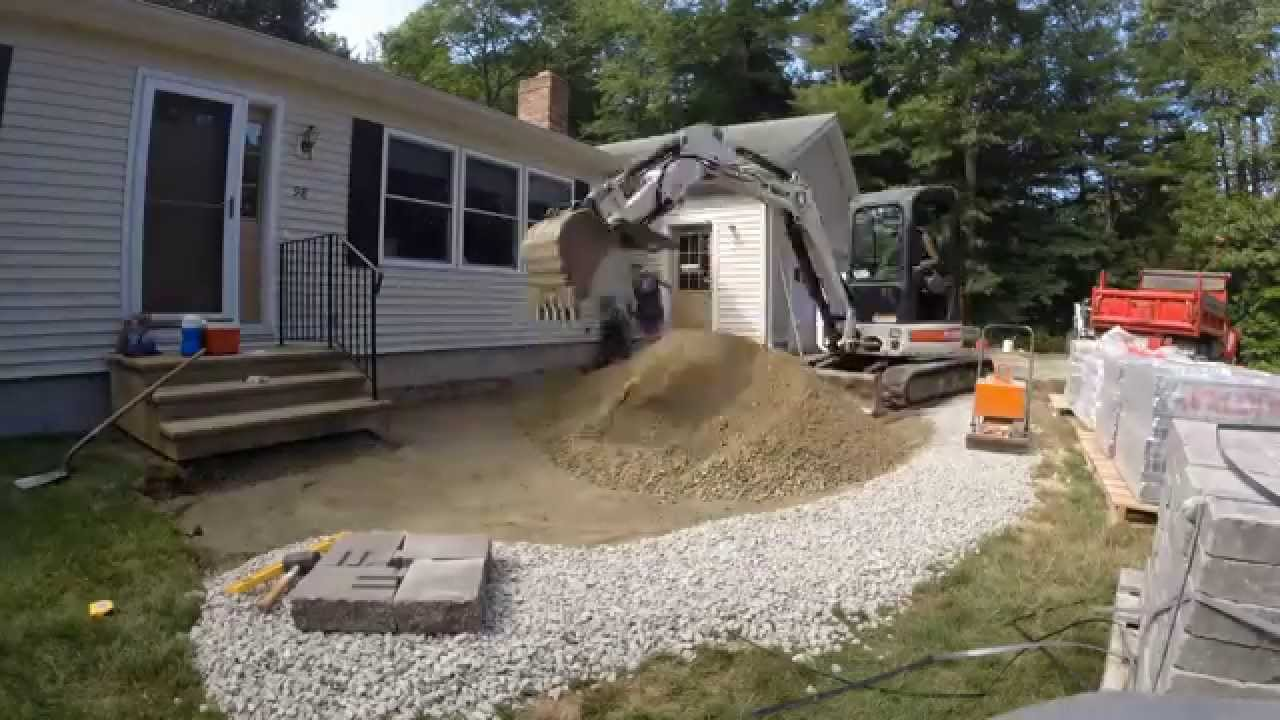 Front Yard Paver Patio Construction Time Lapse   YouTube