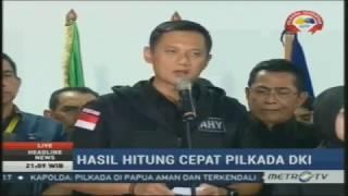 live konferensi pers agus yudhoyono pasca kalah pilkada dki 2017