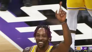 Dwight Does The Mutombo Finger Wag & Lakers Crowd Gets UP! ☝