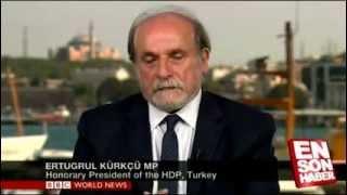 Repeat youtube video BBC spikerinin Ertuğrul Kürkçü'yü rezil rüsva etmesi