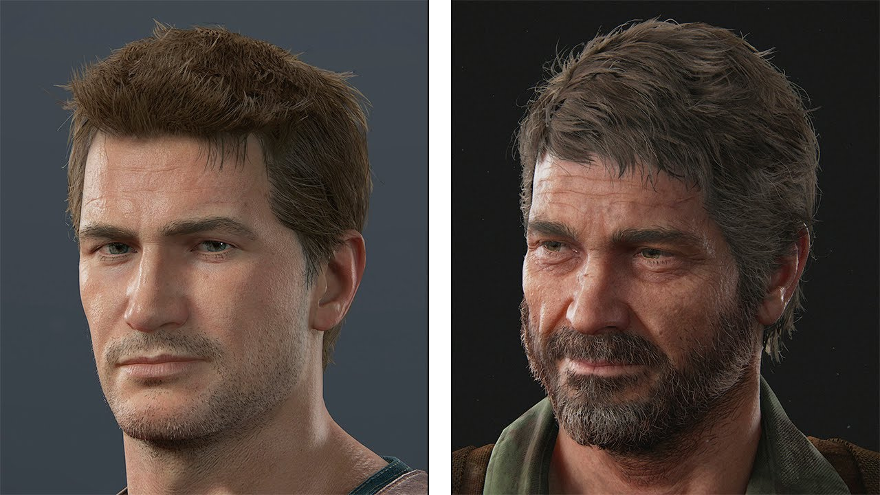 uncharted 1 vs 4 graphics