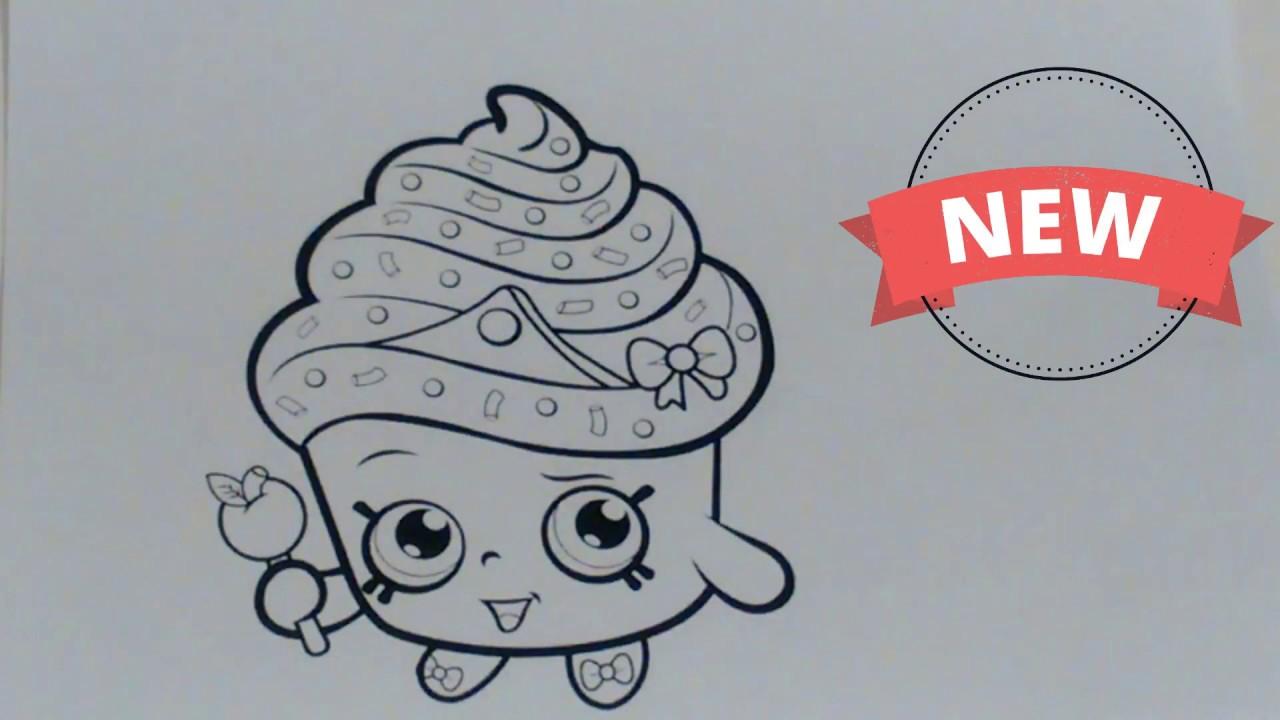Como Pintar Rainha Cupcake Shopkins Toy Kids Gui E Mile Youtube