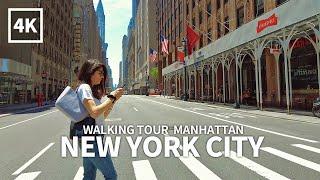 [4K] NEW YORK CITY - Walk on Lexington Avenue, Midtown Manhattan, New York, USA, Travel, 4K UHD