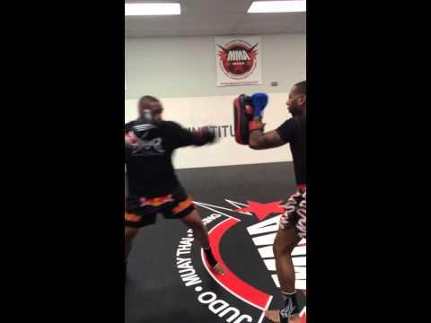 Muay Thai padwork- Alvin Johnson