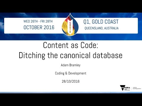 Content as code: Ditching the canonical database