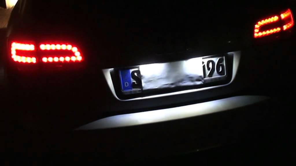 Audi a6 led kennzeichenbeleuchtung mit original audi led for Audi a6 breite mit spiegel