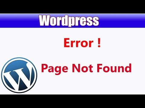 Wordpress Not Found Error   Page Not Found Error In Wordpress   Wamp Server Page Not Found Error