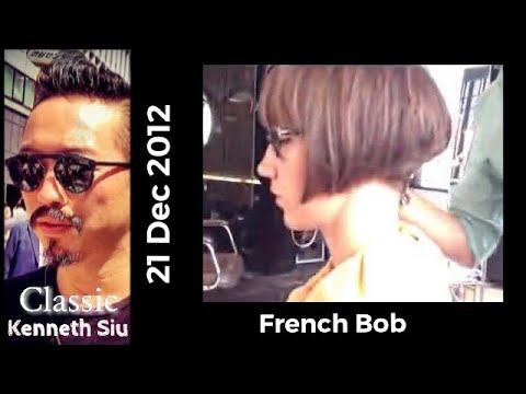 Kenneth Sius Haircut Gorgeous French Bob Youtube